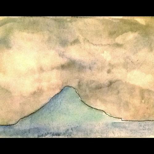 ...e o melhor do Litoral. Montão em tarde chuvosa. #aquarela by Dalton de Luca