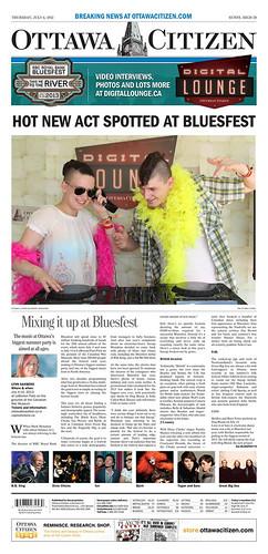 Ottawa Citizen Front Page Bluesfest '13