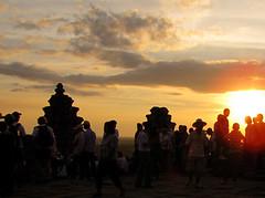Sunset at Phnom Bakheng Mountain