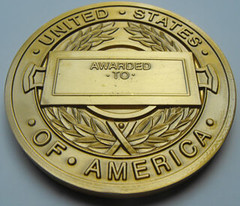 CIA Distinguished Career Intelligence Medal reverse