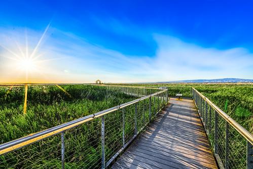 california sunset landscape sunnyvale unitedstates sanjose alviso slough hdr