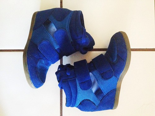 Blue Sneaker Wedges