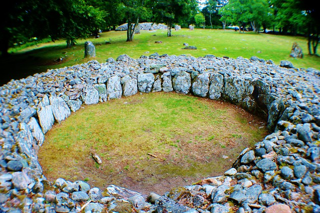 Clava Cairns Prehistoric Site, Scottish Highlands