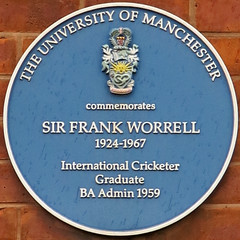 Photo of Frank Worrell blue plaque