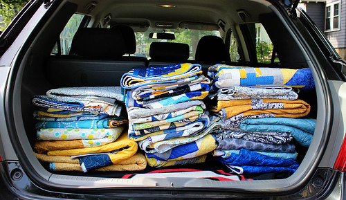 Trunk full of quilts