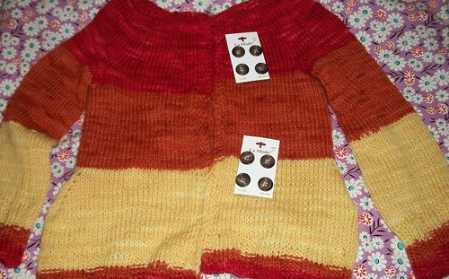 Yoke Sweater, blocked