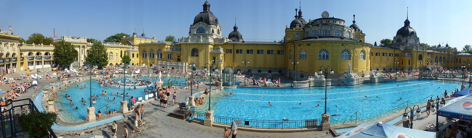Szechenyi bath panorama, Budapest