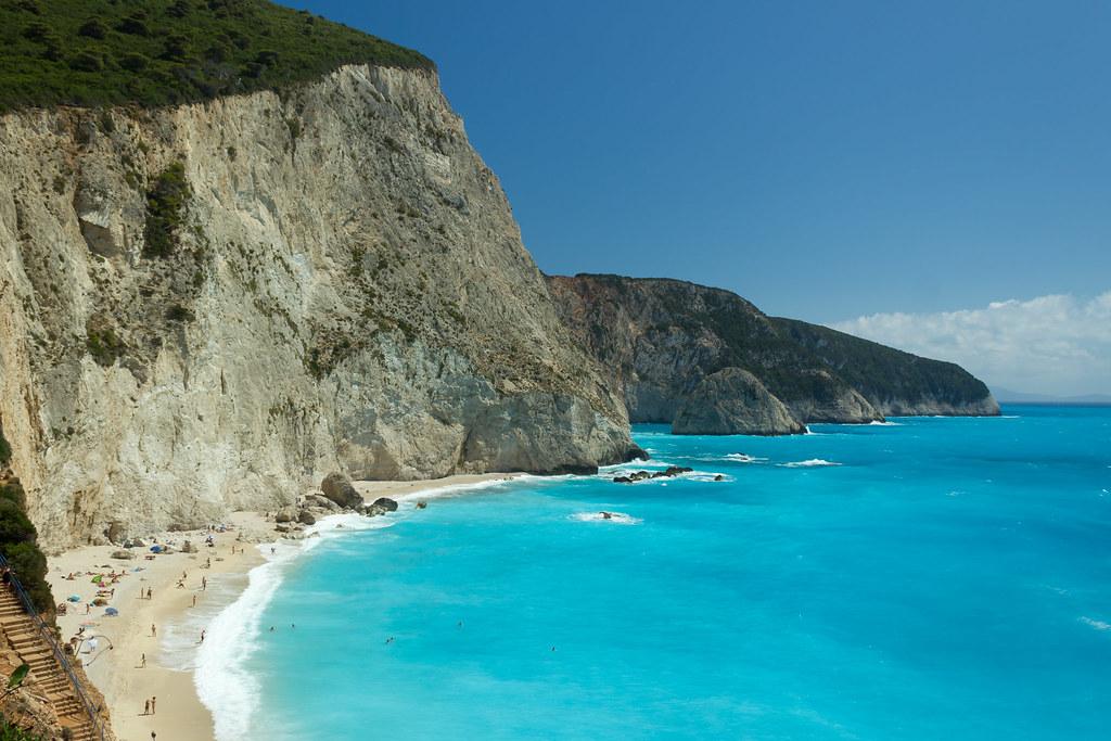 Porto Katsiki beach Leukada Greece
