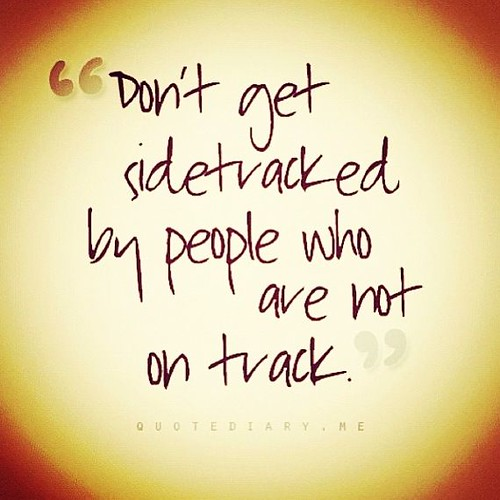 Don't get sidetracked