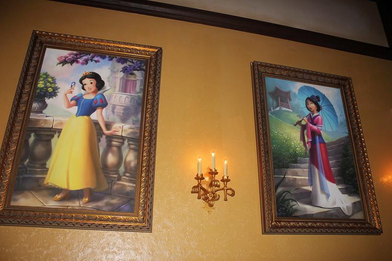 Snow White and Mulan Portraits at Princess Fairytale Hall