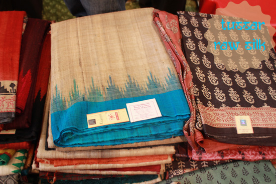 tussar raw silk