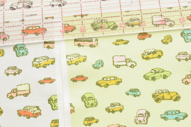little retro cars fabric