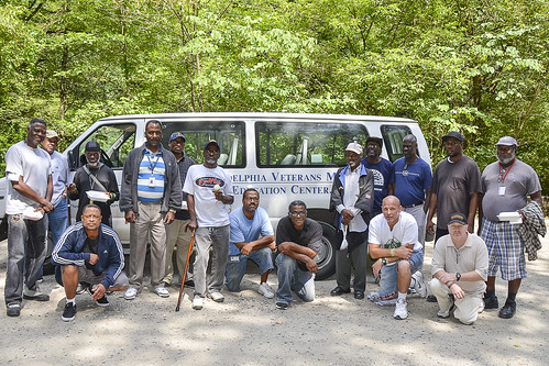 Hiking with Veterans In the Wissahickon