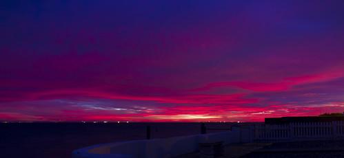 uk greatbritain sunset red sea england sky landscape seaside purple westsussex unitedkingdom september redsky sunrisesunset selsey 2013 paulstokes259