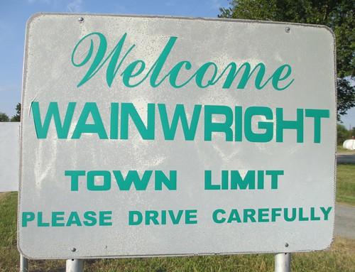 Welcome to Wainwright Sign (Wainwright, Oklahoma)