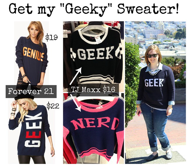 Geeky Sweater Collage