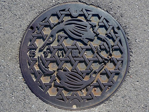 Gifu city Gifu pref ,manhole cover (岐阜県岐阜市のマンホール)