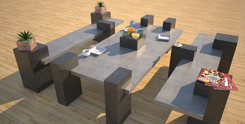 Custom concrete furniture outdoor, concept design and production by 108.167.189.34