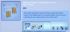 Sliding Polarity Towel Rack y Van Allen Decor