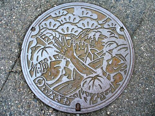 Inazawa Aichi , manhole cover 5 (愛知県稲沢市のマンホール5)