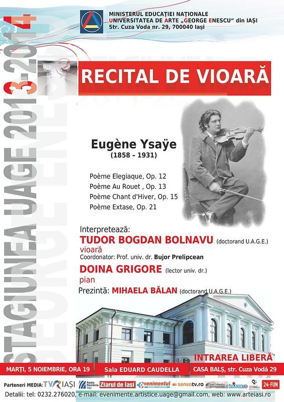 2013.11.05.Recital vioara Tudor Bolnavu