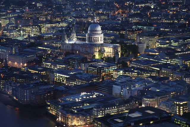 View from the Shard - St Paul's at night