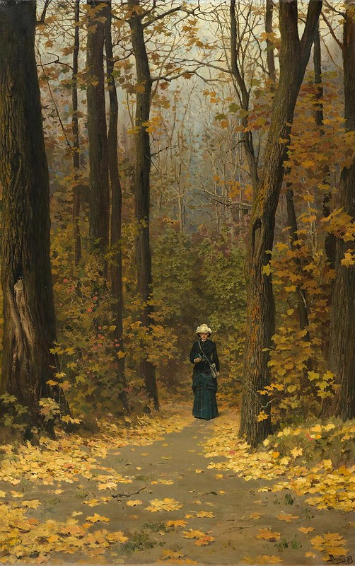 Vasili Dmítrievich Polénov (1844-1927) - Solitary walker on a forest path (c.1883)