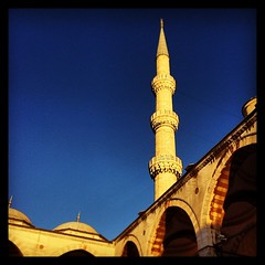 Minaret at the Blue Mosque Istanbul  #picoftheday #photooftheday #igers