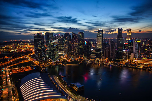 A view from Marina Bay Sands
