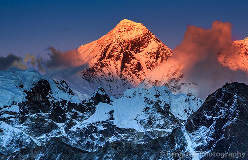 travel nepal sunset wild cloud mountain color tourism expedition beautiful beauty horizontal trek landscape scenery colorful asia tour view outdoor dusk scenic peak landmark unesco vista remote himalaya majestic khumbu everest himalayas gokyo sagarmatha chomolungma solukhumbu gokyori