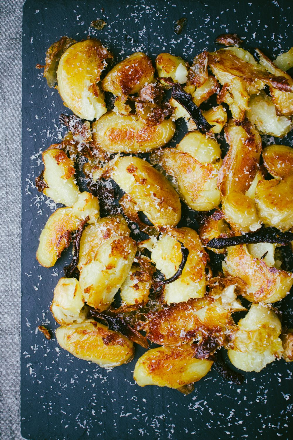 Smashed Lemon Potatoes