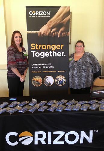 Joy McCracken & Cindy Johnson - Corizon represented at Alabama Leadership Conference