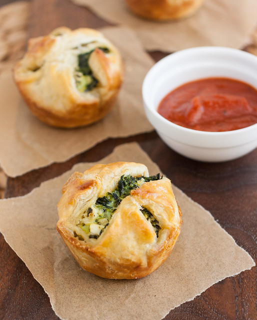 Spinach and Feta Puff Pastry Bites | Tracey's Culinary Adventures