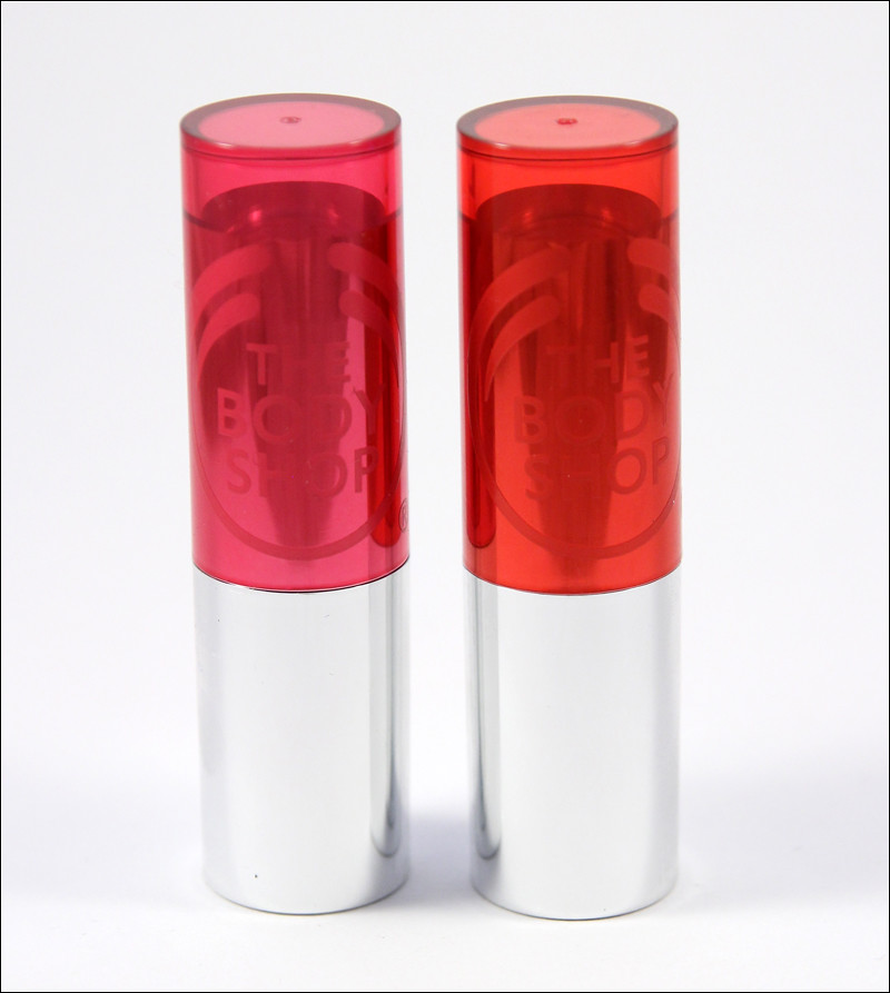 TBS peachy pink & sweet coral colour crush lipstick
