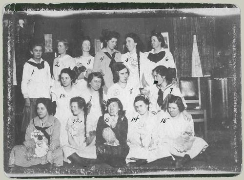 Fifteen girls, lollies and dollies