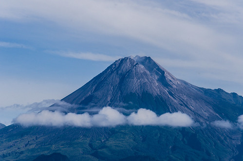 mountain indonesia landscape crater yogyakarta merapi 55200 d7000