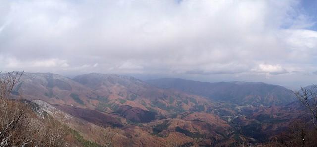 虎子山 頂上からの展望 パノラマ