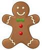 small golden gingerbread man