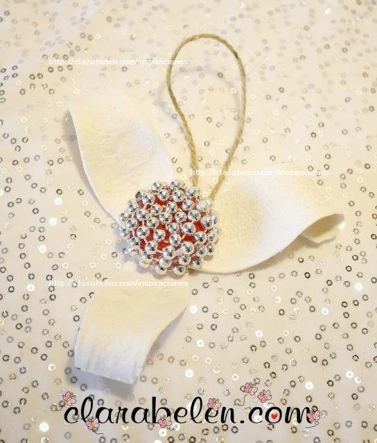 Elegantes adornos de navidad hechos con clarabelen - Adornos navidenos elegantes ...