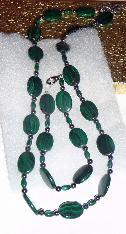 Malachite Hematite Necklace Bracelet