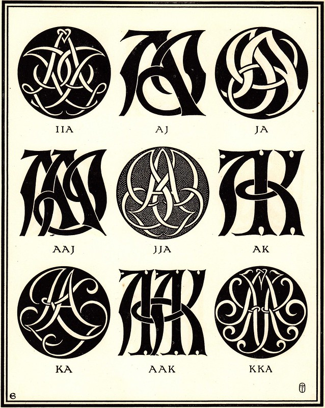 Monograms & Ciphers by AA Turbayne 1912 c