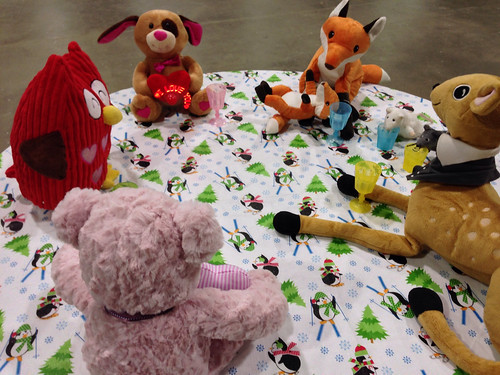 Plushie Tea Party for Table Flipping