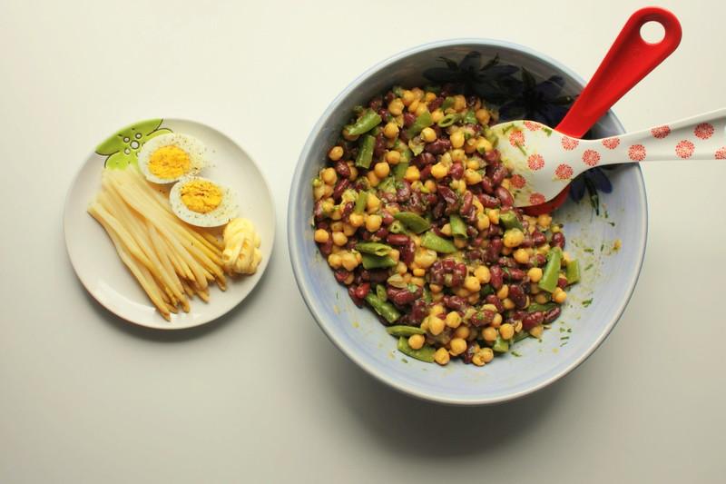 Þriggja bauna salat með aspas