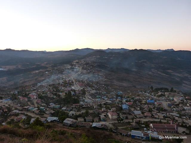 Hakha sunset viewpoint