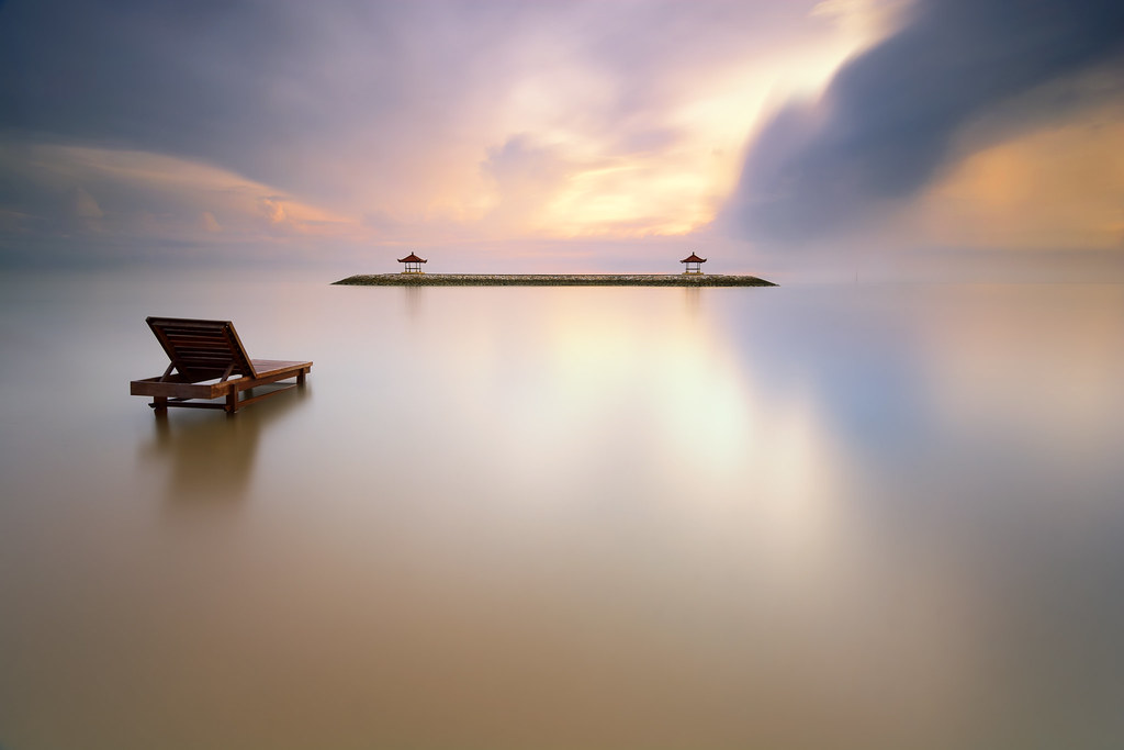 Mirror Sea   Karang beach, Sanur, Bali - Indonesia  - Nikon