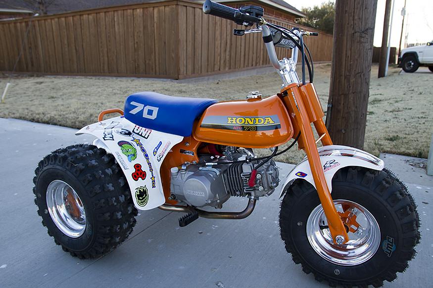 Honda Atc 70 : Retro honda atc motorsports in photography on the