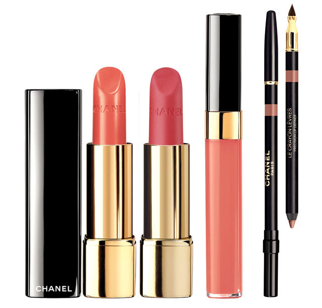 chanel collection variation for spring 2014 beiges and naturals glossimer, la crayon, rouge allure lipsticks