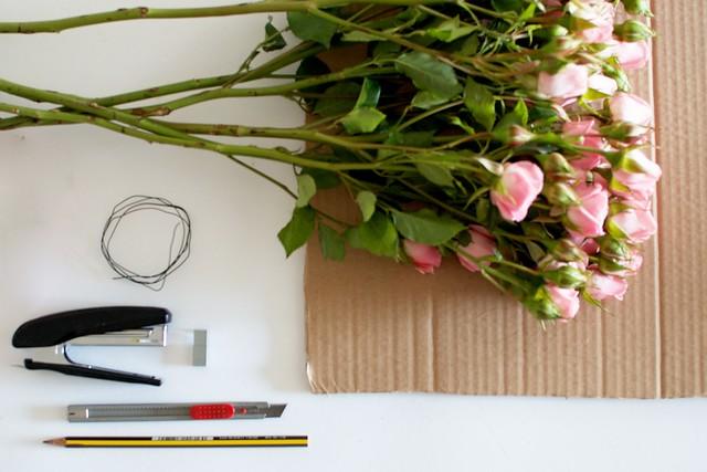 Coração Floral DIY