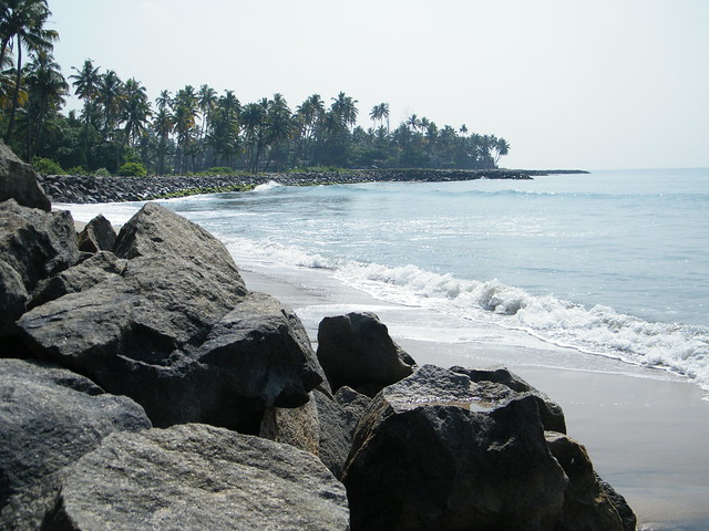 full view of Thirumullavaram beach, Kerala