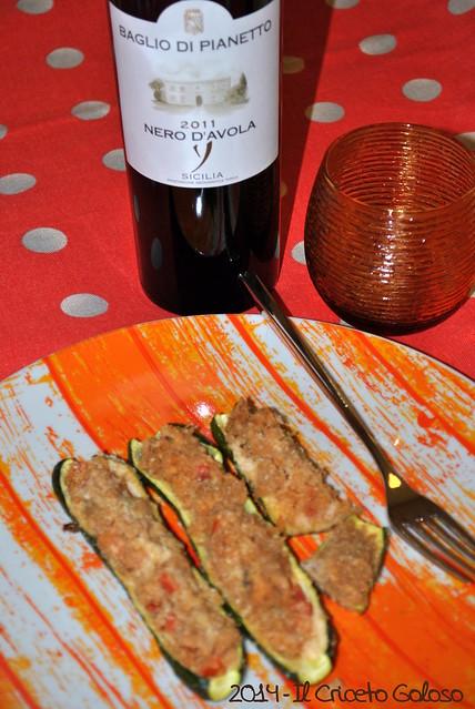 Zucchine ripiene di tonno (4)